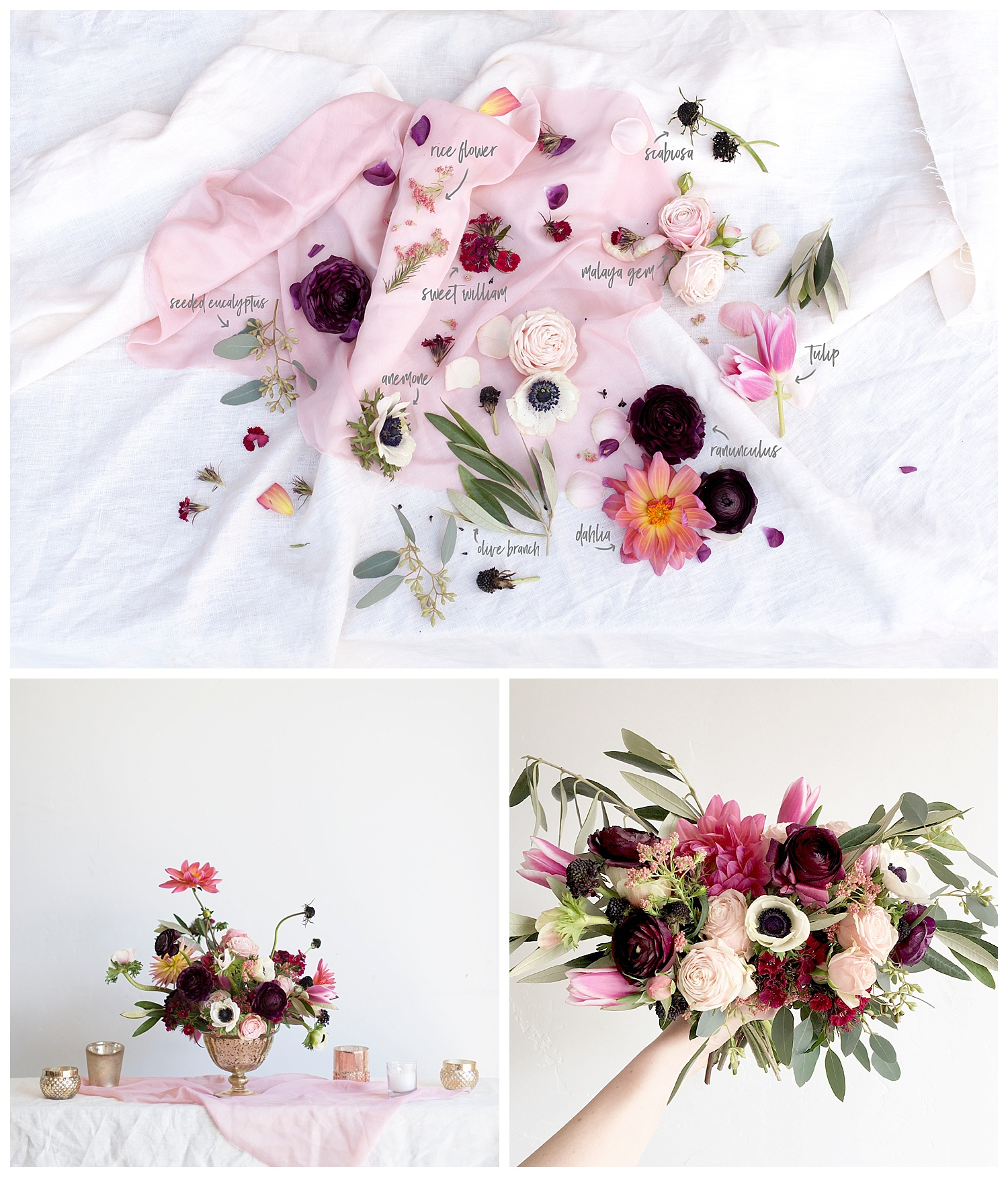 Blush Berry Wedding Flowers
