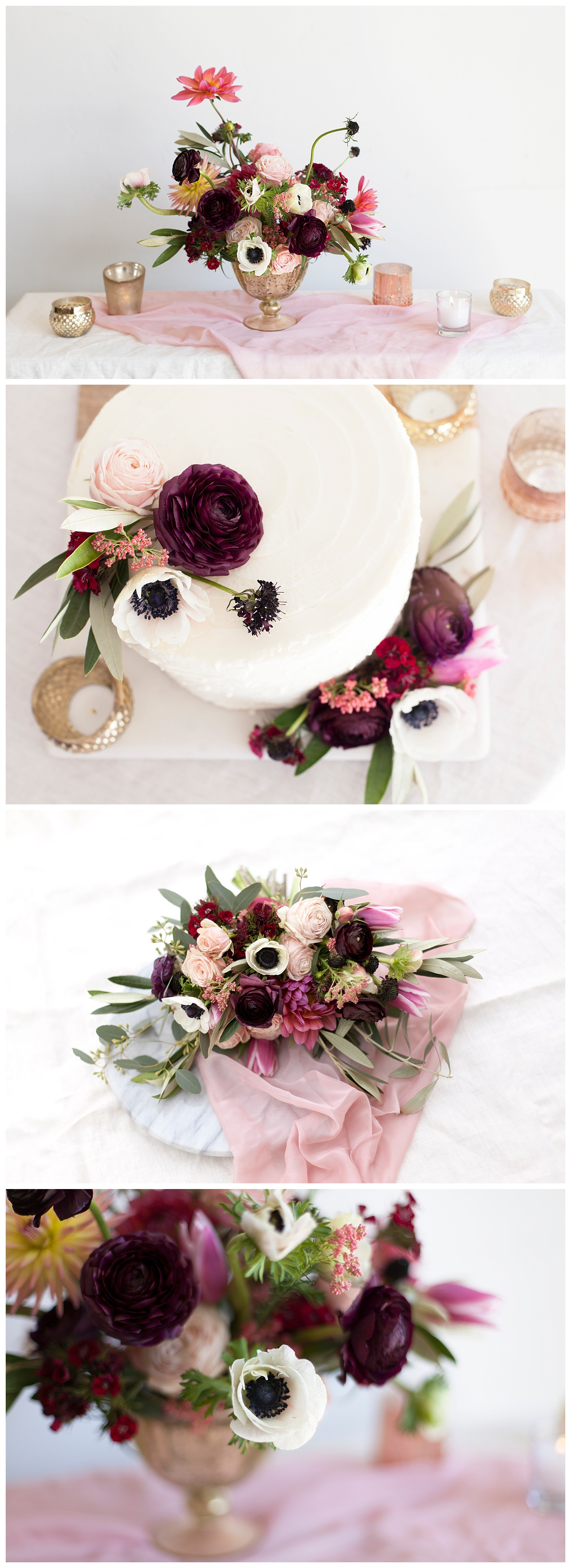 Blush and Berry Wedding Flowers