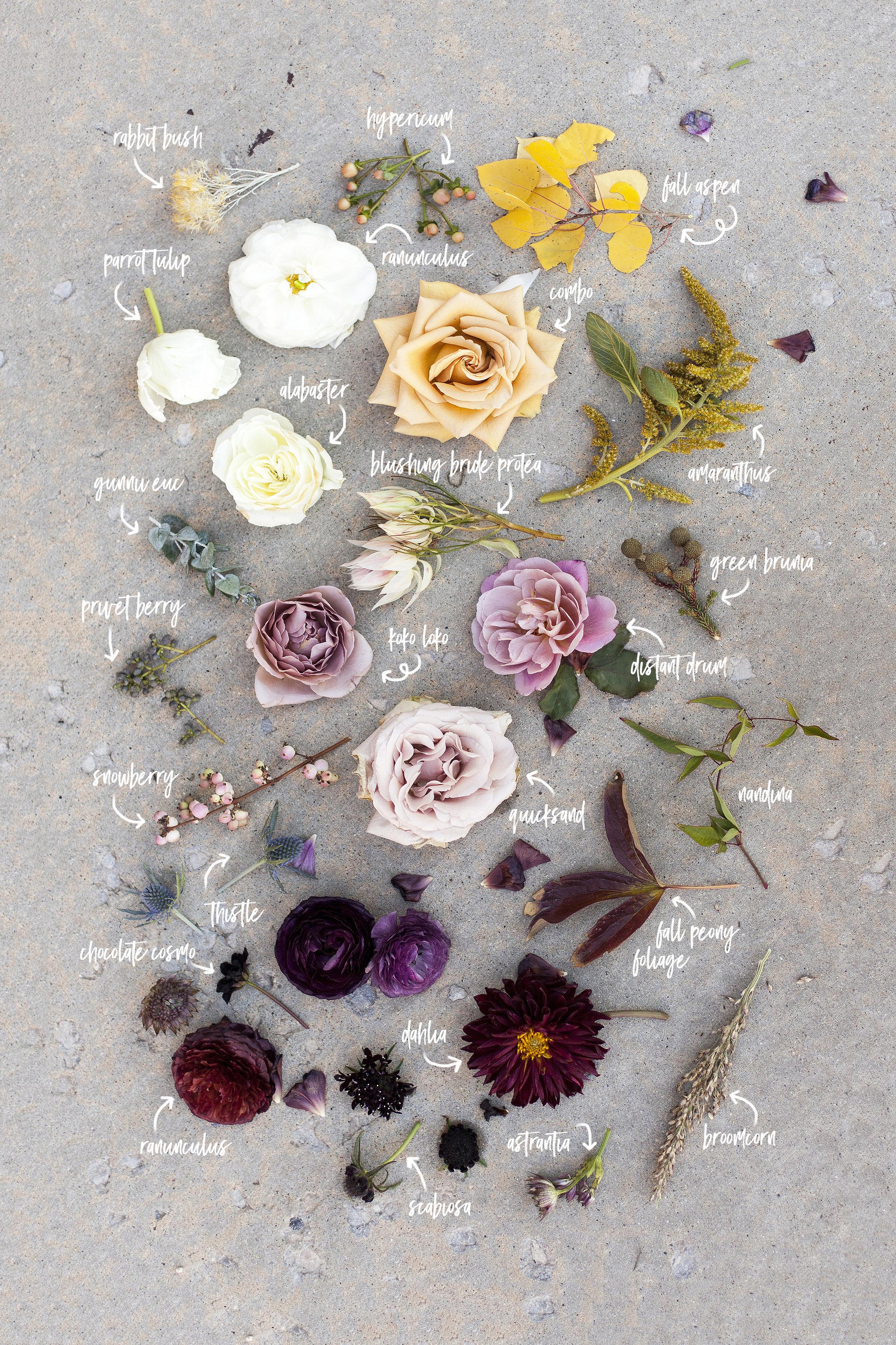 Fall flower recipe inspiration | Blushing Rose Floral, Utah Wedding Florist