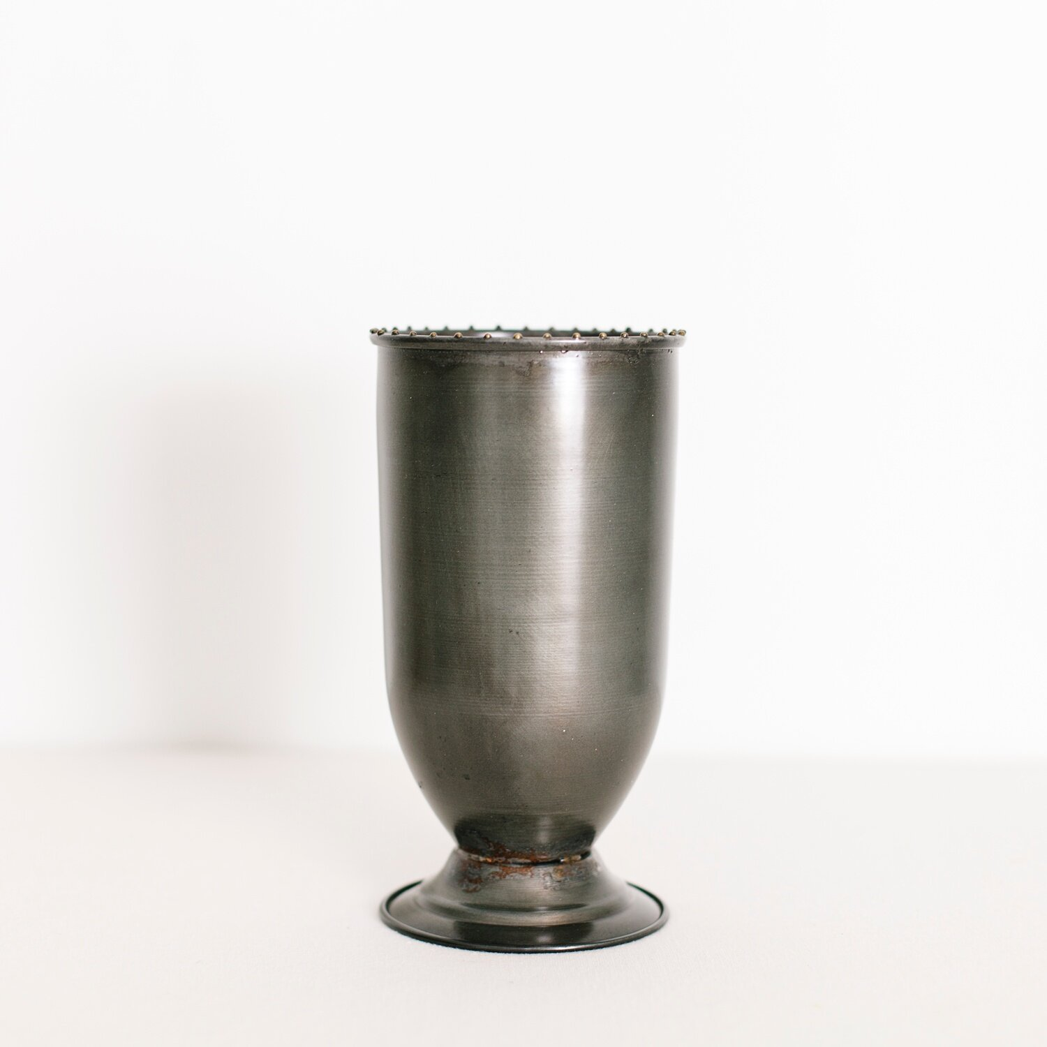 """METAL CUP  $ 3.00 / 6 in stock 8.5"""" tall, 4.5"""" wide"""
