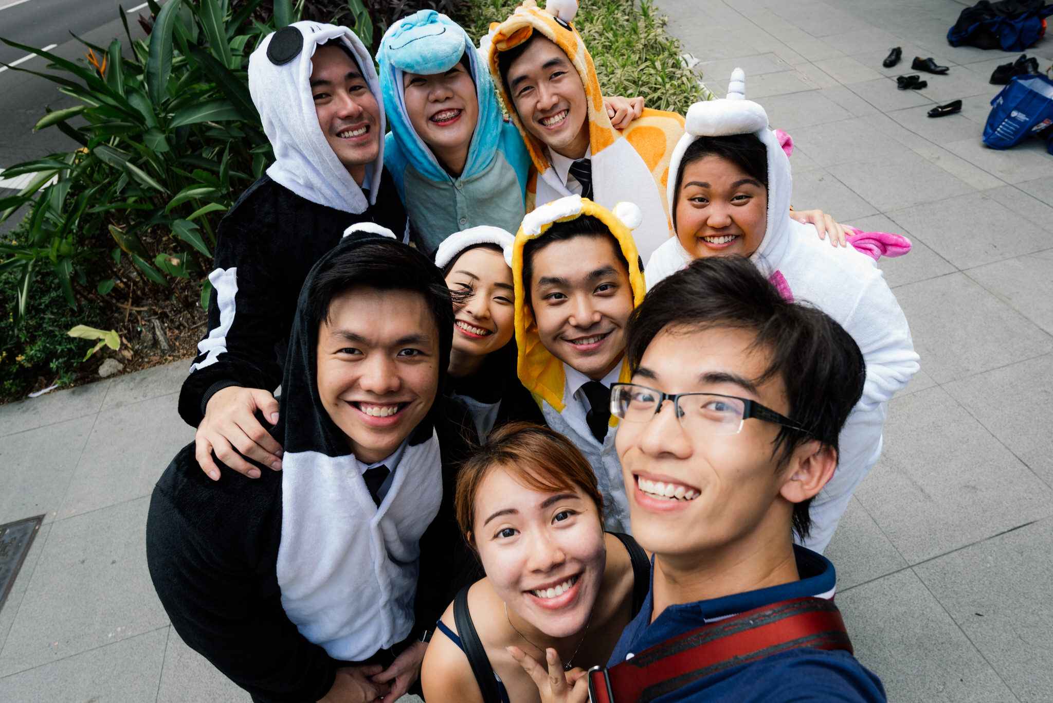 And not forgetting our usual wefie with the adorable people in onesies! =)