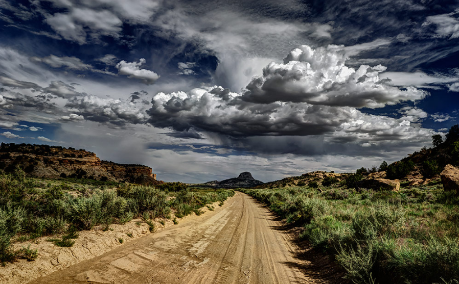 Photo: New Mexico Rain by Jim Caffrey