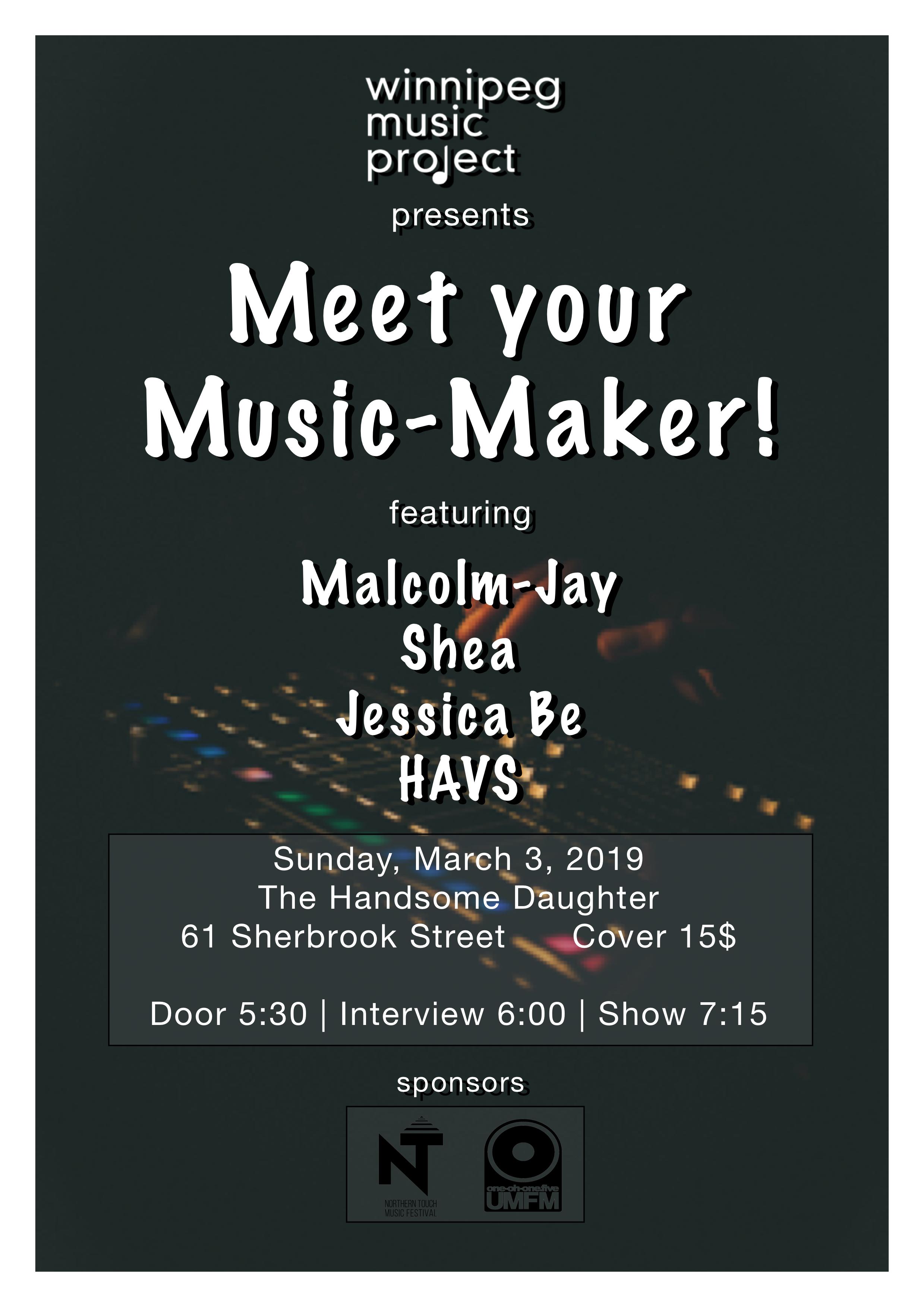 Meet Your Music Maker Poster   Winnipeg Music Project