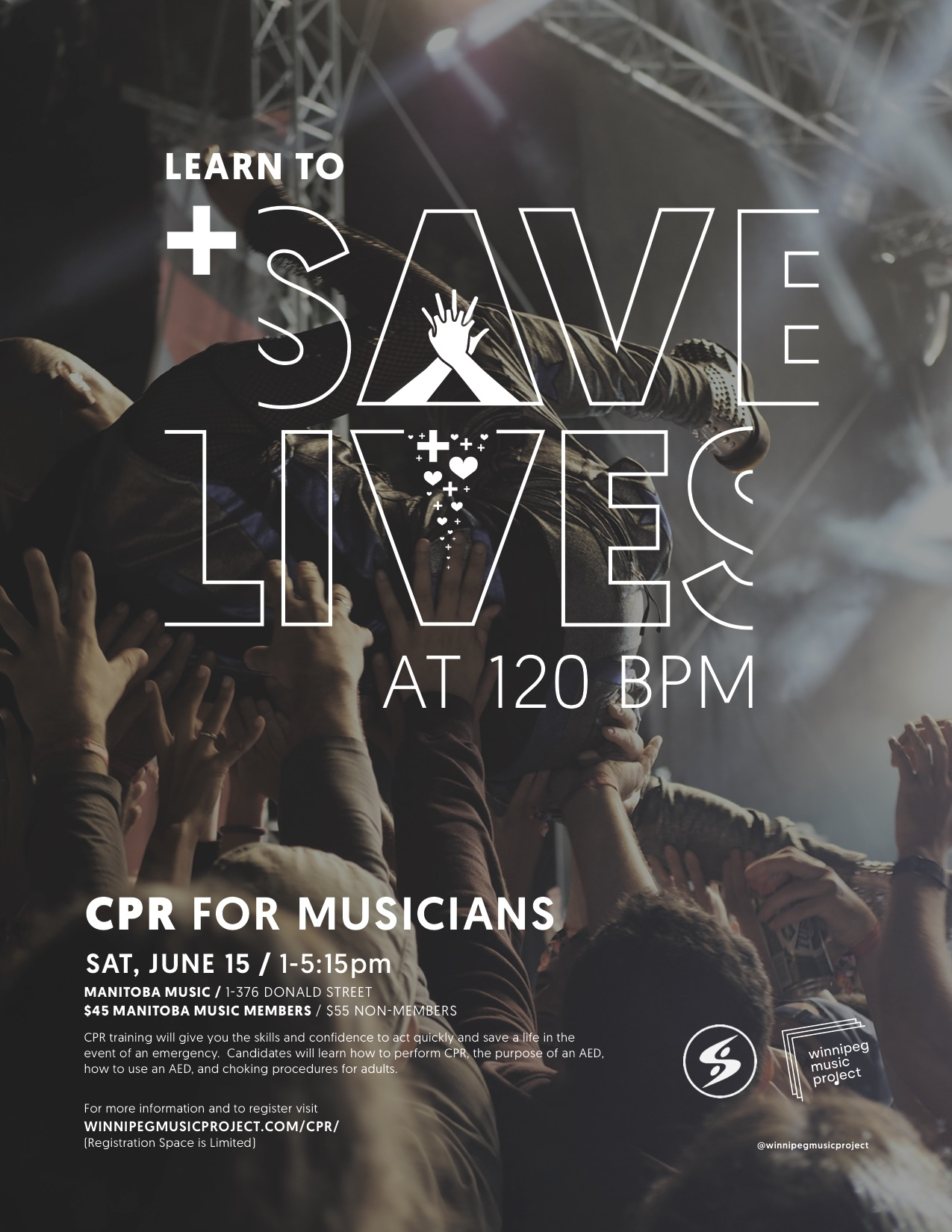 CPR for Musicians Poster | Winnipeg Music Project