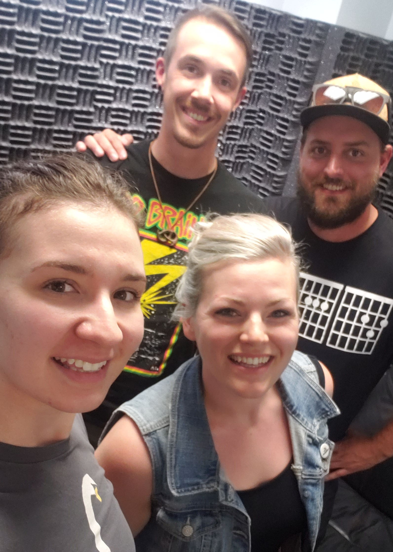 Ashley Bieniarz with Kyle, Kendra and Evan from Northern Royals (Left to Right)