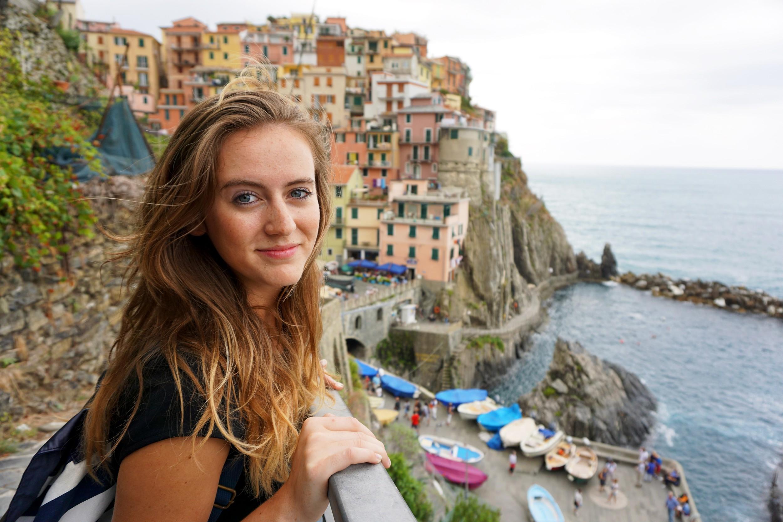 Katie Morrison at Manarola, Cinque Terre, Italy.