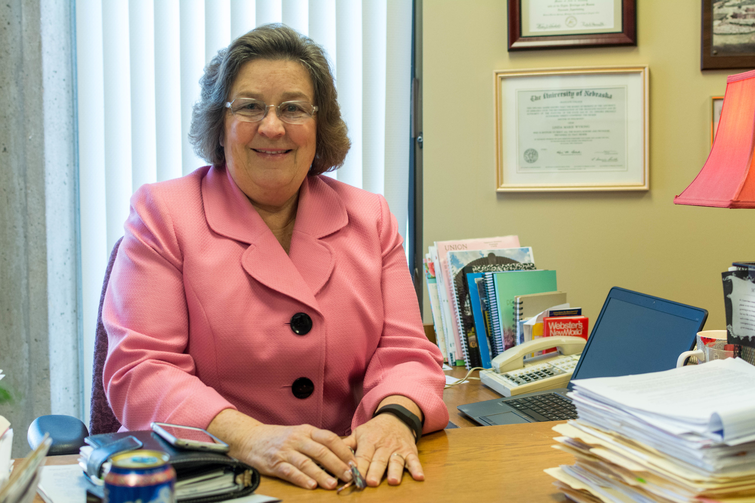 Dr. Becker during her last year as the VP for Student Services // Zach Morrison