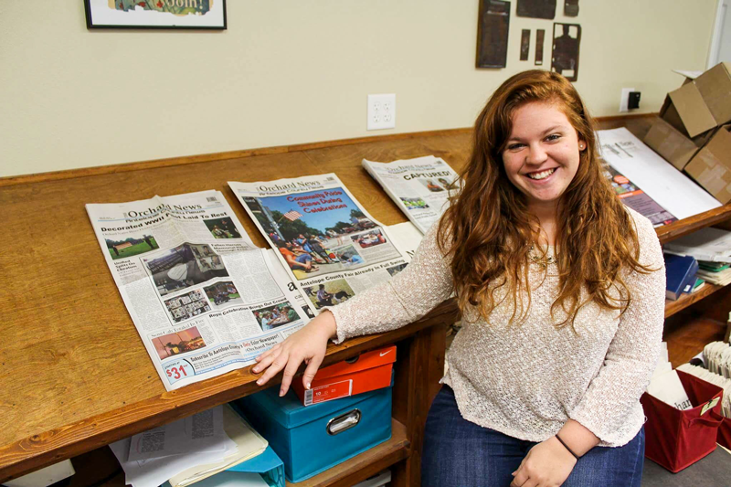 Natalie Bruzon '16 shows off her hard work for   Antelope County News   | PC: Zach Morrison