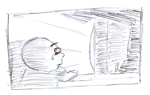 Is living through a screen truly living?  Drawing: Kevin Niederman
