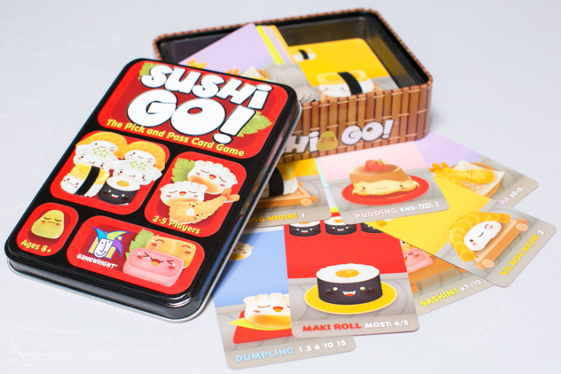 Sushi Go! provides a game requiring advanced planning and quick thinking in a charming, wasabi-dipped package. | PC: thegameaisle.com