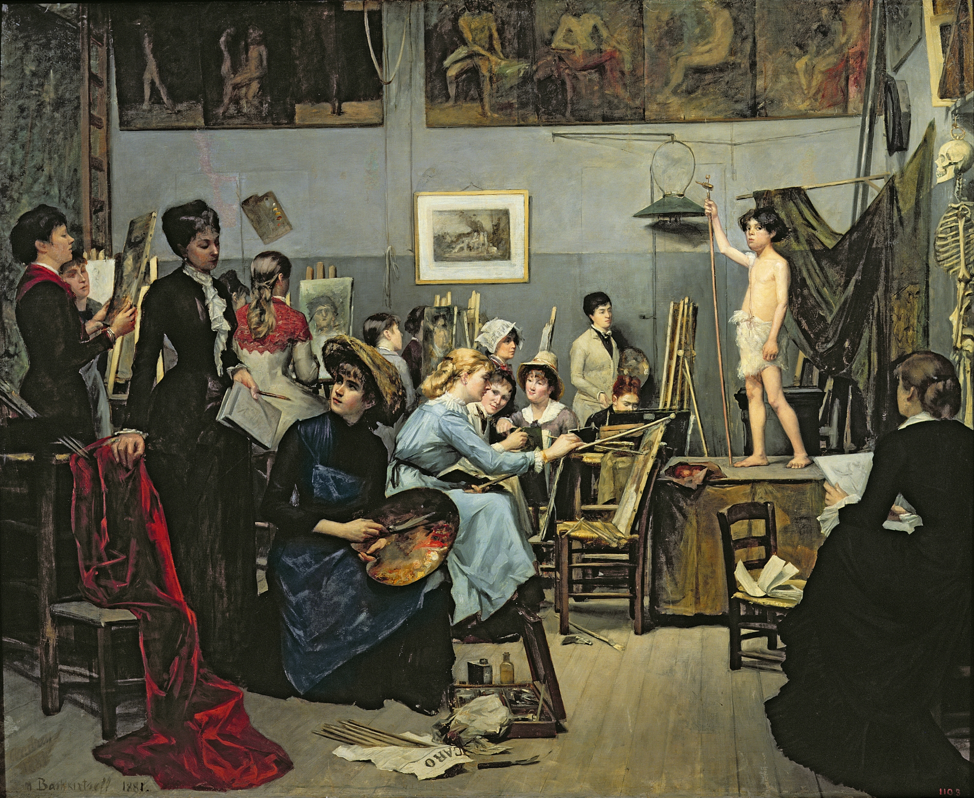 In the Studio by Marie Bashkirtseff, 1881   PC: arthistoryproject.com