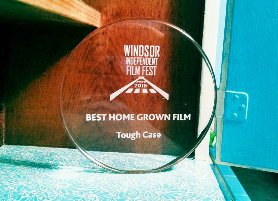 """We won an awardfor """"Best Home Grown Film"""" last weekend at the Windsor Independent Film Festival."""