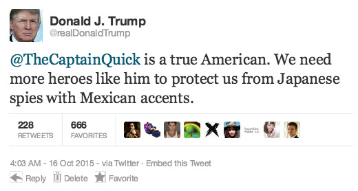Endorsed by the president himself!