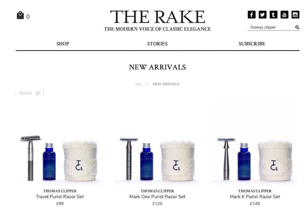 Visit The Rake online today to shop a fine selection of Thomas Clipper goods