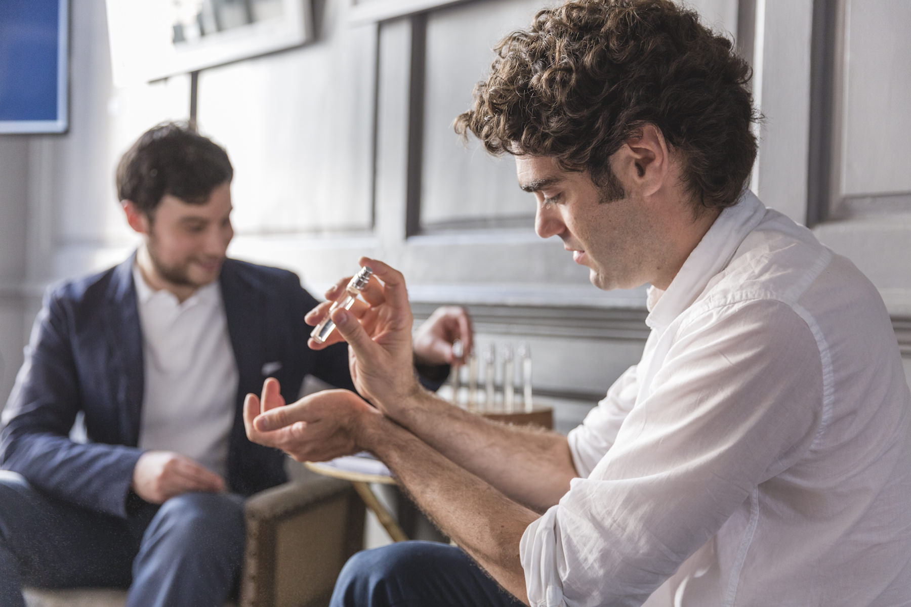 Founders Matt and Antonio creating their blend for a summer evening