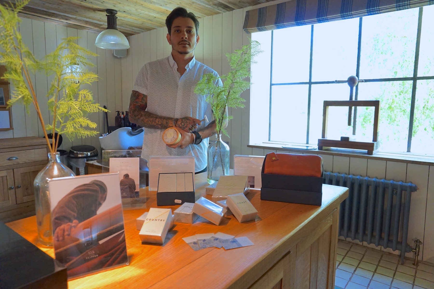 Soho Farmhouse barber with Thomas Clipper