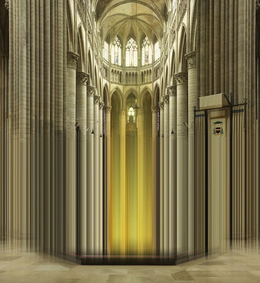 Jeanne D´Arc , 2014, 200 x 183cm, c-print, plexiglass, woodframe