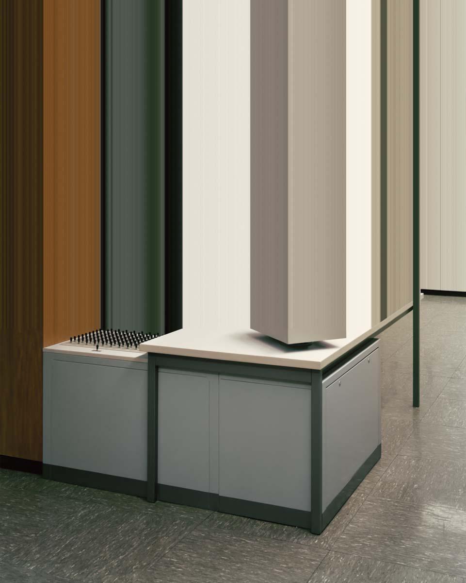 Kommandozentrale , 2014, 200 x 160cm, c-print, plexiglass, woodframe