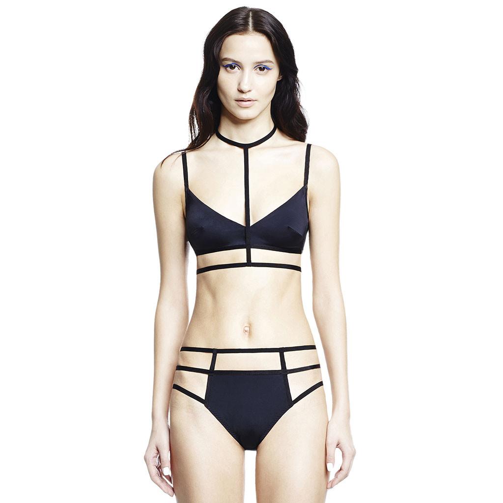 CHROMAT T strap bra & hipcage underwear