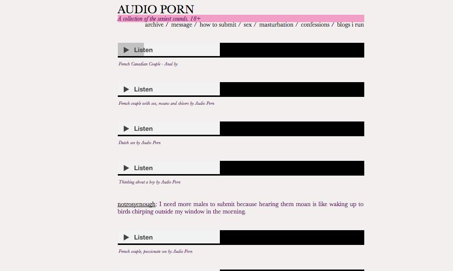 Audio porn -
