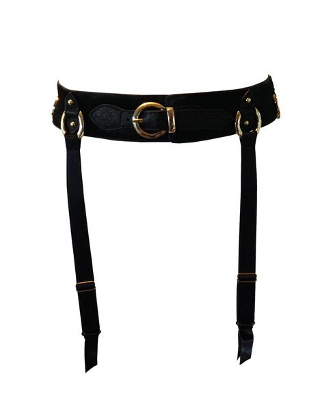 leather bondage suspender belt