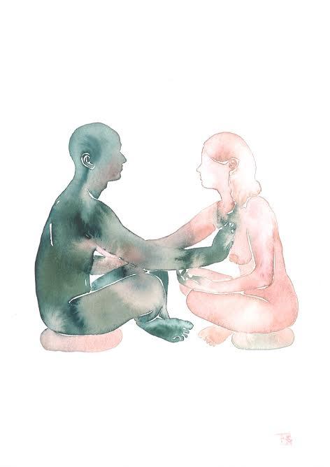 'Make Love Watercolor Series' by Tina Maria Elena