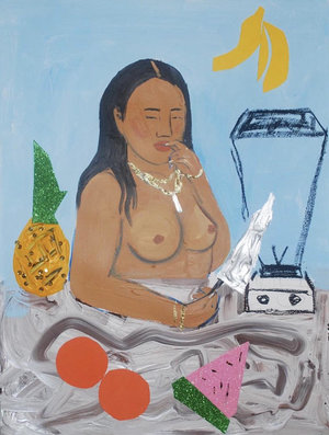 monica kim garza - WE ADORE THE PAINTINGS OF THIS ATLANTA-BASED ARTIST. THE WOMEN SHE CAPTURES ARE BEAUTIFULLY PAINTED, CAREFREE, CURVACEOUS & NAKED.