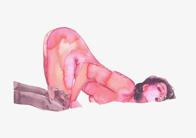 Tina Maria Elena - TINA CREATES WATERCOLOURS THAT BEAUTIFULLY CAPTURE THE RAW AND EROTIC INTIMACY OF LOVERS. HER PIECES ARE A BLUR OF PASSION AND VULNERABILITY. WE ASKED HER ALL ABOUT HER ARTISTIC PROCESS, SPIRITUALITY AND HOW SHE CAME TO CAPTIVATE SUCH A LARGE AUDIENCE WITH HER BEAUTIFUL BRUSH STROKES.