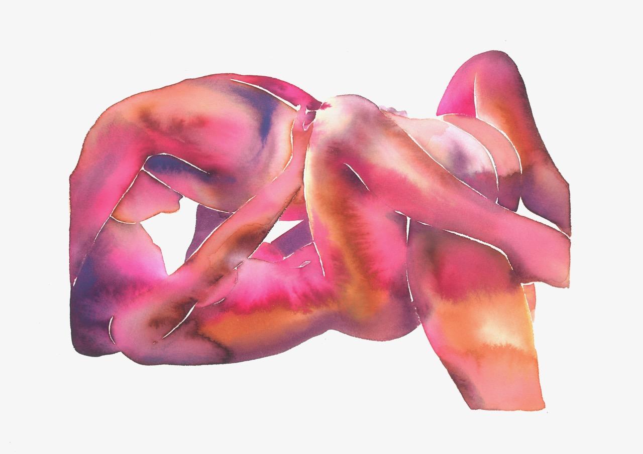'Make Love watercolor no. 209' by Tina Maria Elena