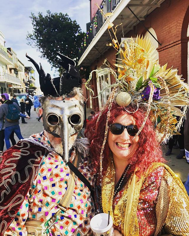 Mardi Gras Day 2019! The brightest, most beautiful, and  sunniest day of the year. All hail!  #mardigras #carnival #neworleans