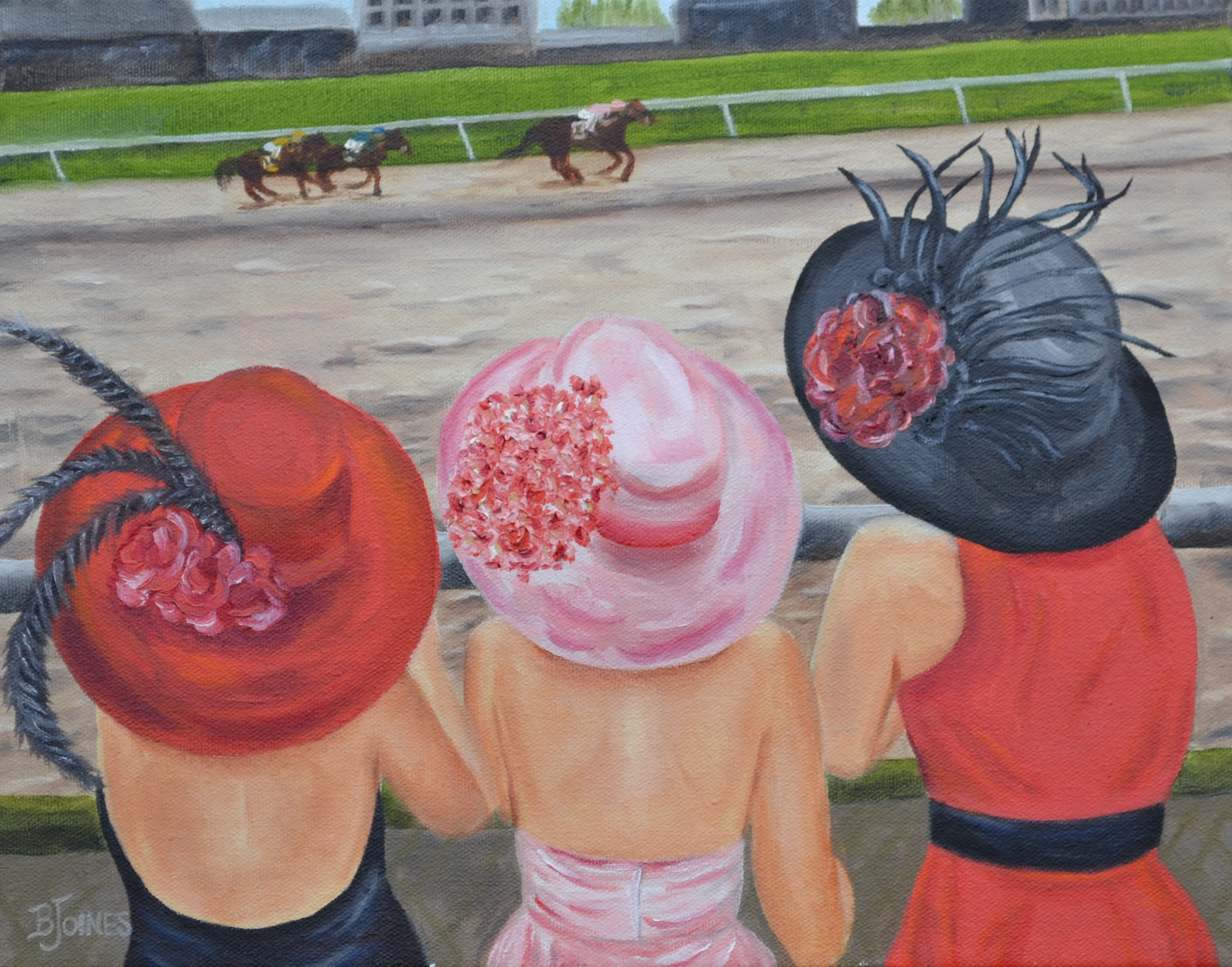 "16x20 in Oil on Canvas  ""Every Hat Has Her Day""    SOLD"