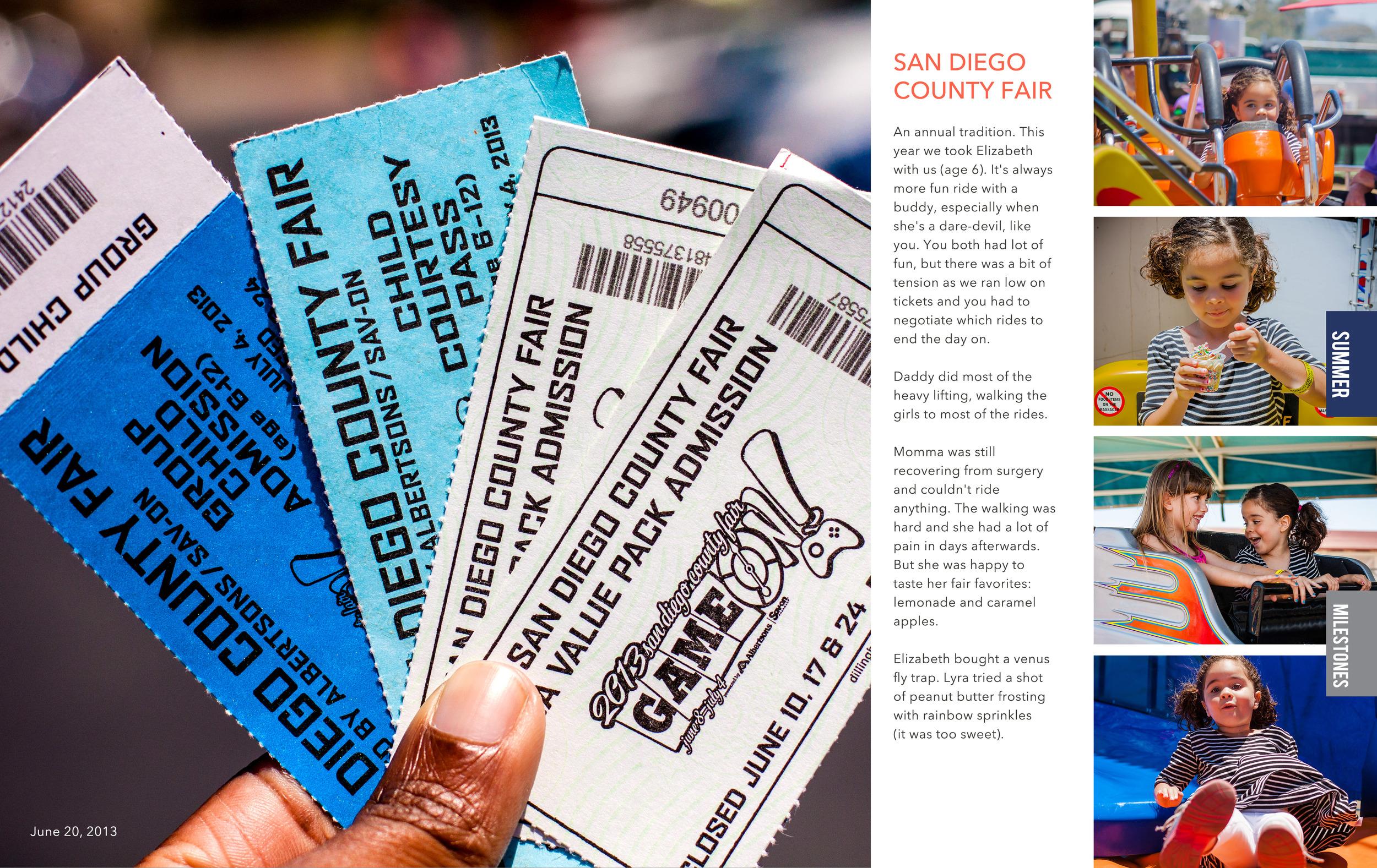 San Diego County Fair photobook layout