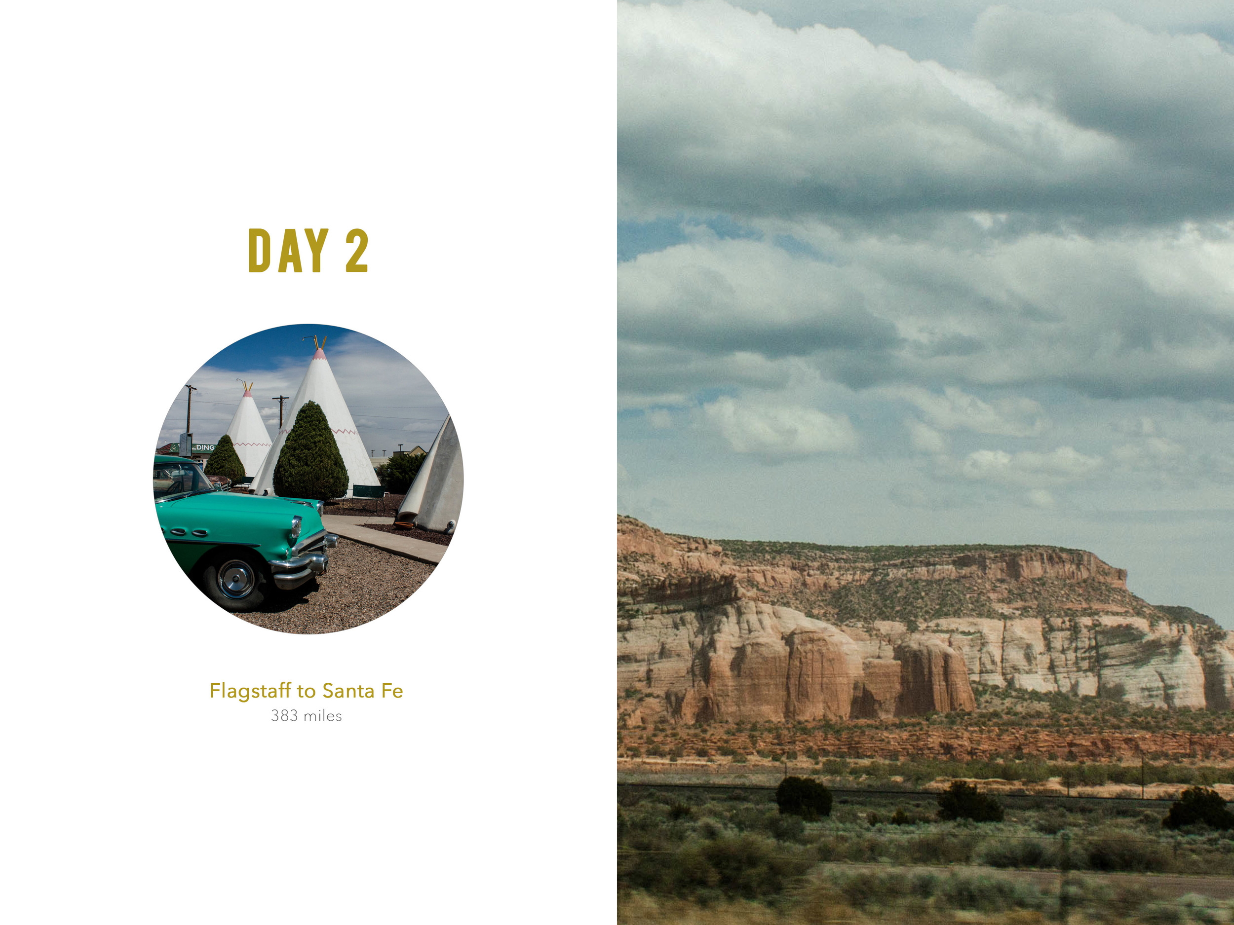 Arizona Wigwam Hotel photobook layout 6x8