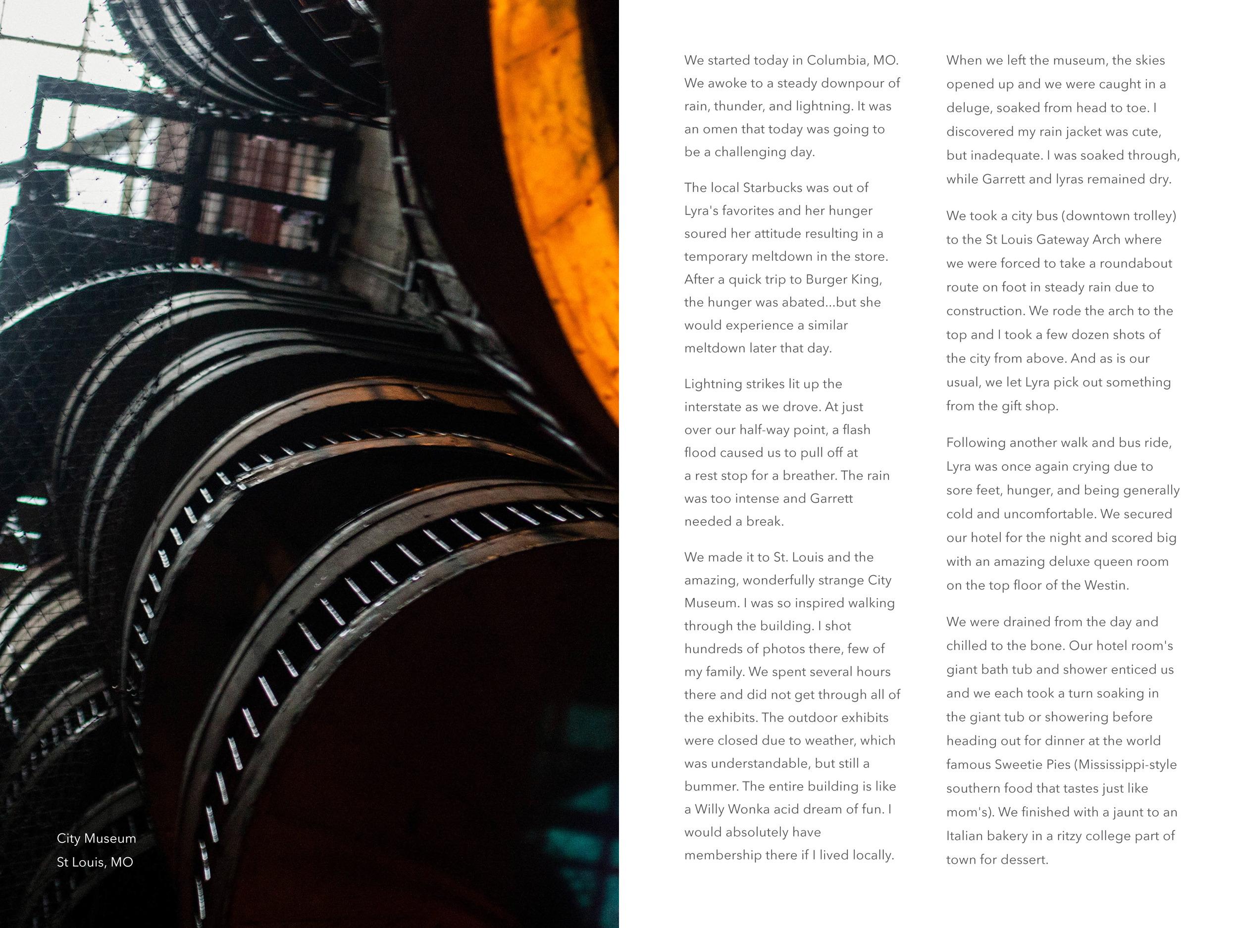 The City Museum 6x8 photobook layout