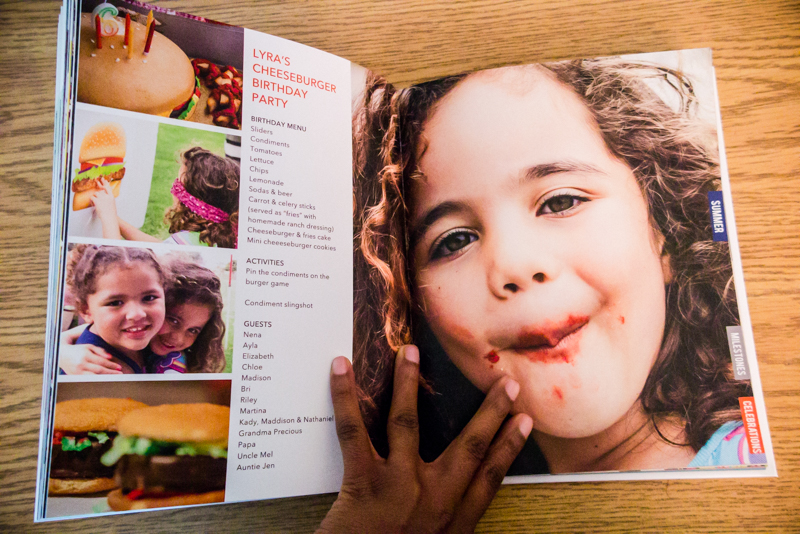 8x10 Blurb photo book | annual family album table of contents | yolandamadethis.com
