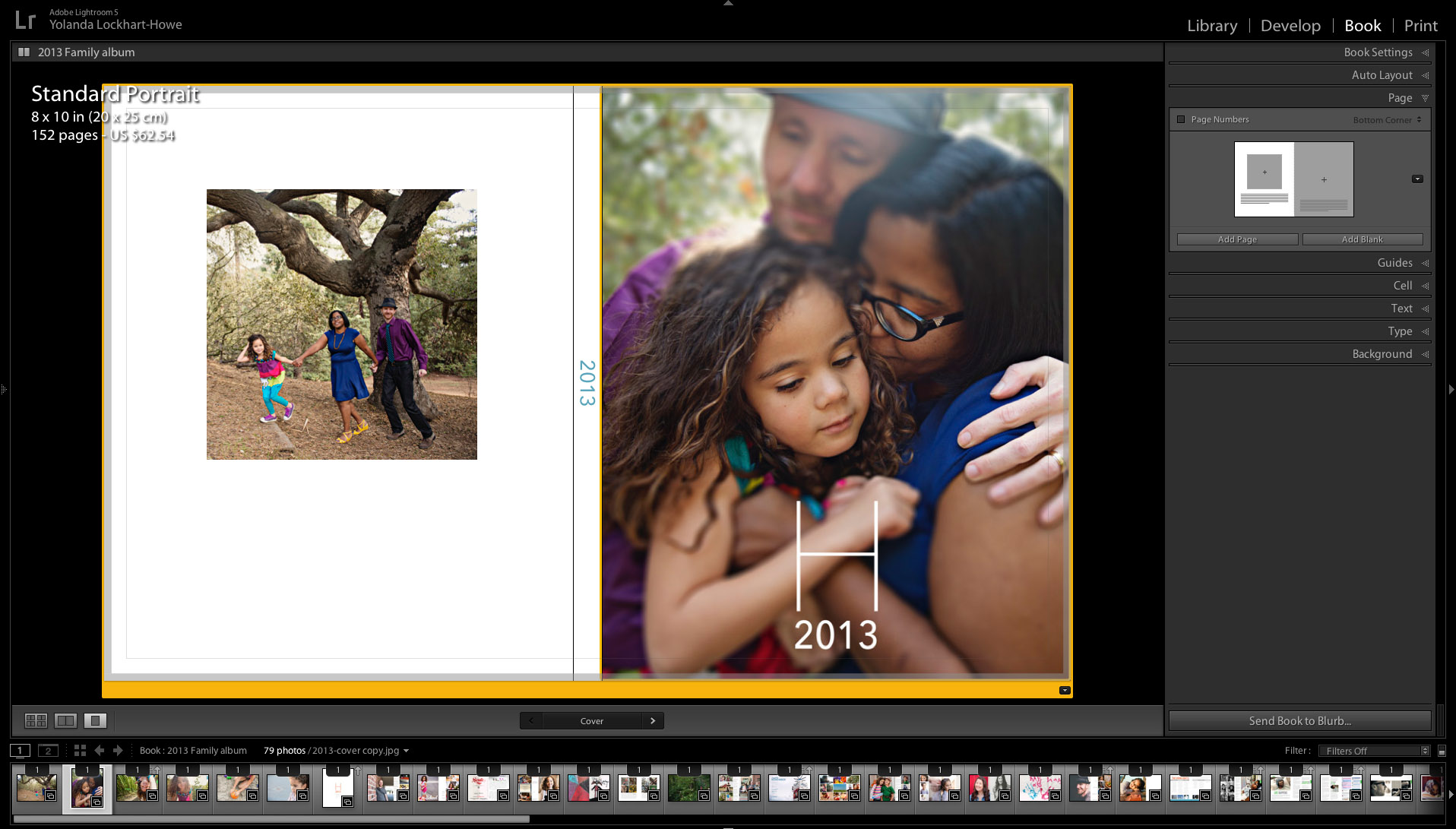 8x10 Blurb photo book | cover design in Lightroom | yolandamadethis.com