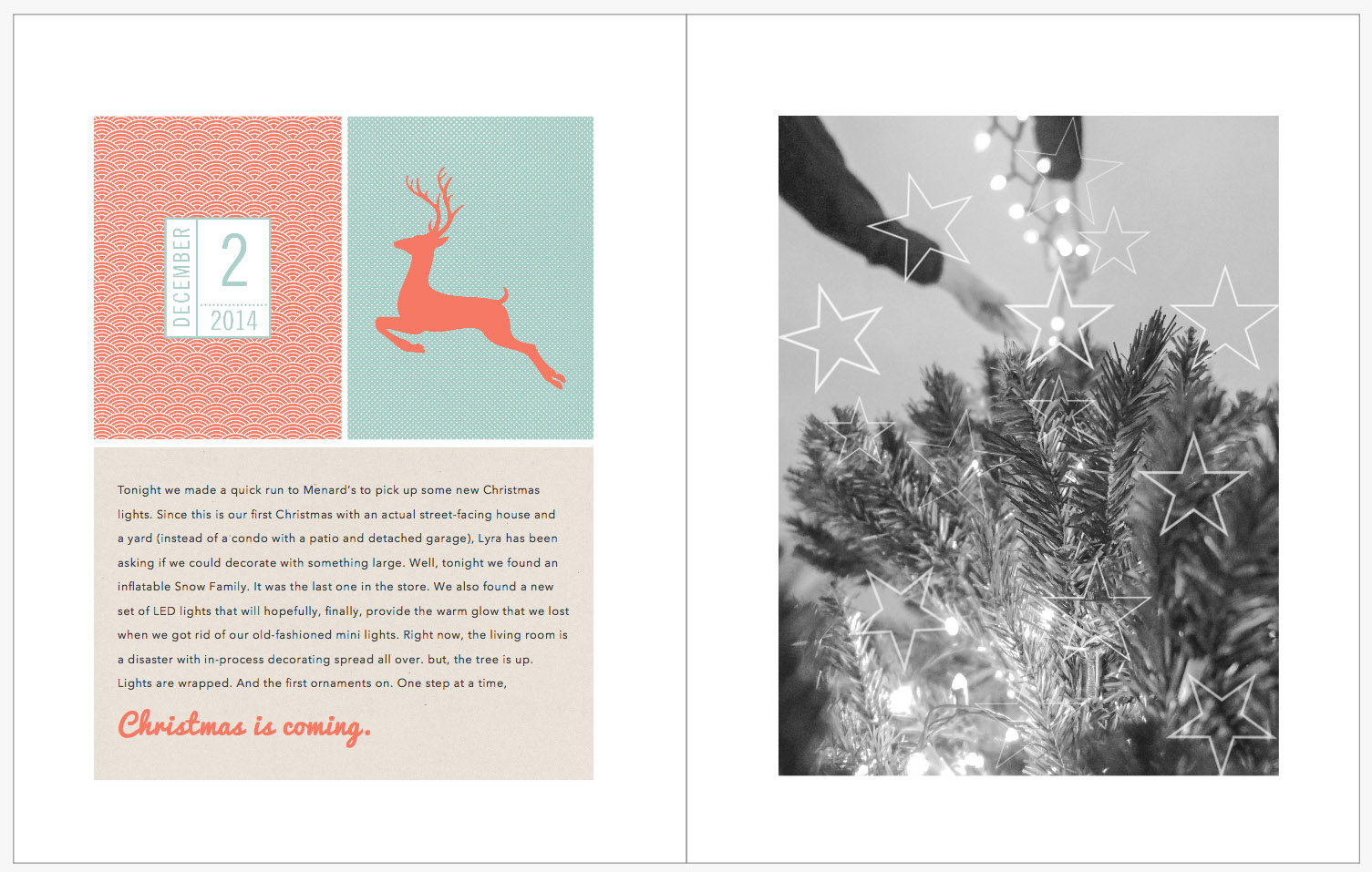 December Daily 2014 photo book | decorating the tree | yolandamadethis.com