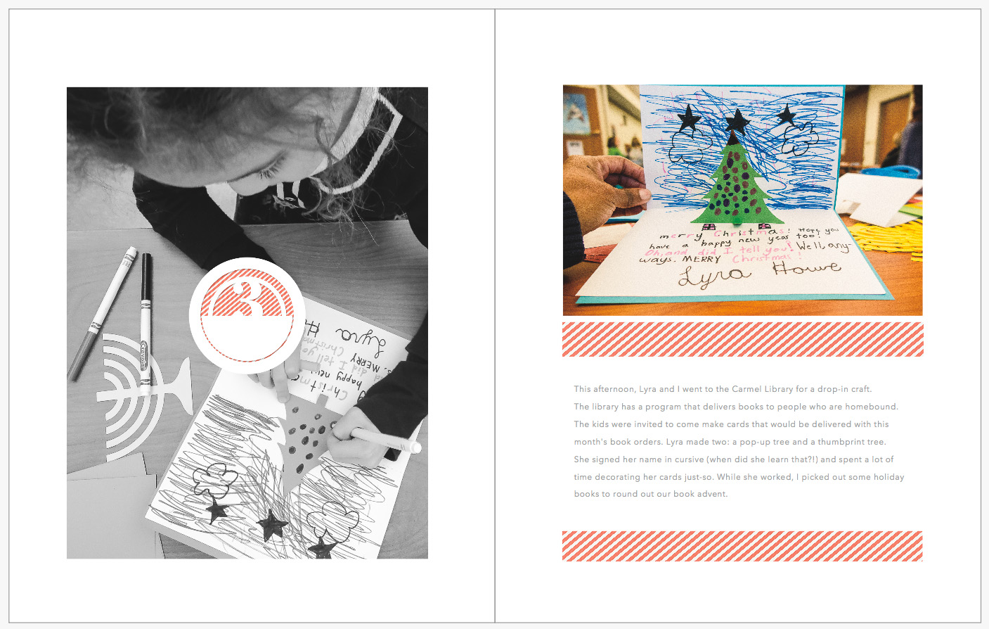 December Daily 2014 photo book | Crafts at Carmel Public Library Carmel, IN | yolandamadethis.com