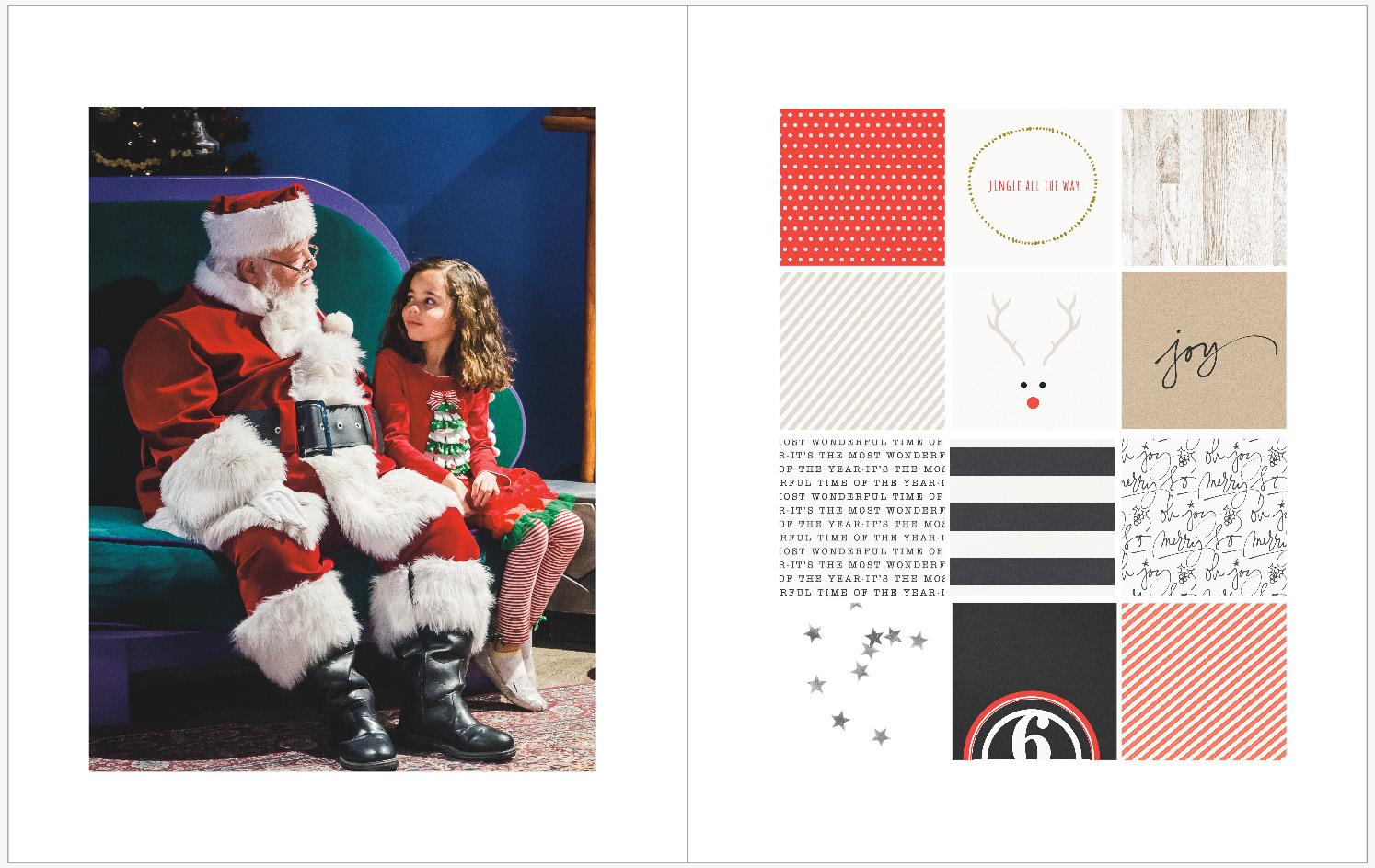 December Daily 2014 photo book | visiting Santa | yolandamadethis.com