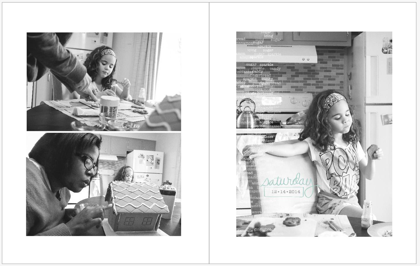 December Daily 2014 photo book | gingerbread houses | yolandamadethis.com