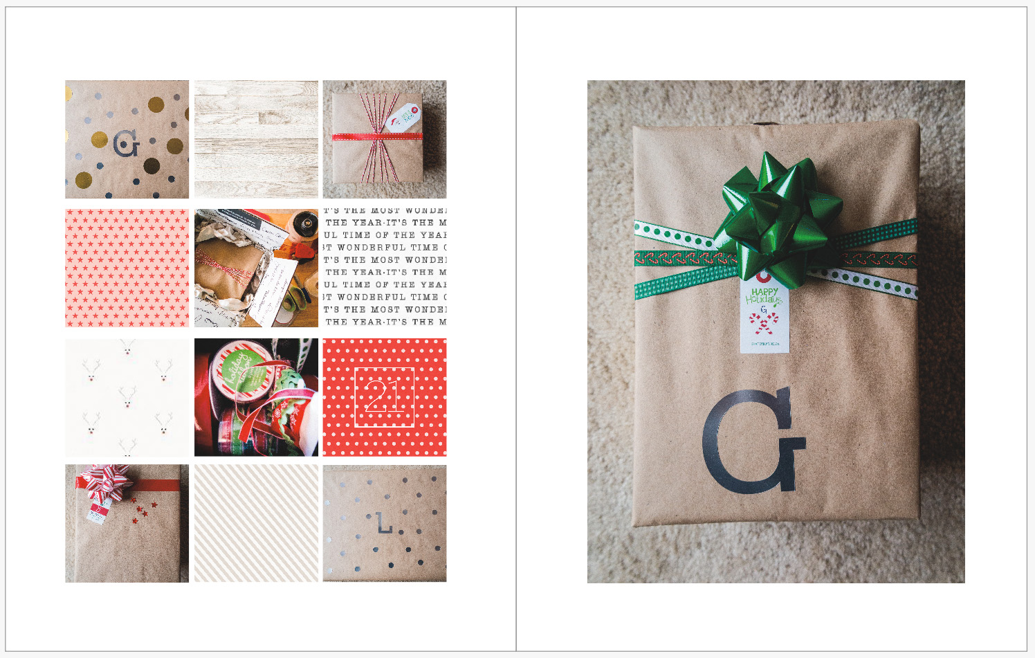 December Daily 2014 photo book | gift wrapping | yolandamadethis.com
