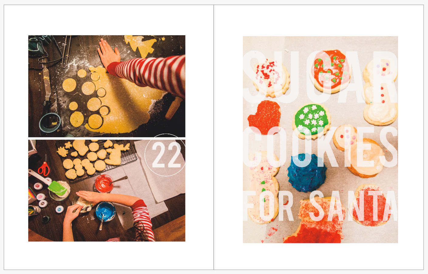 December Daily 2014 photo book | cookie baking | yolandamadethis.com