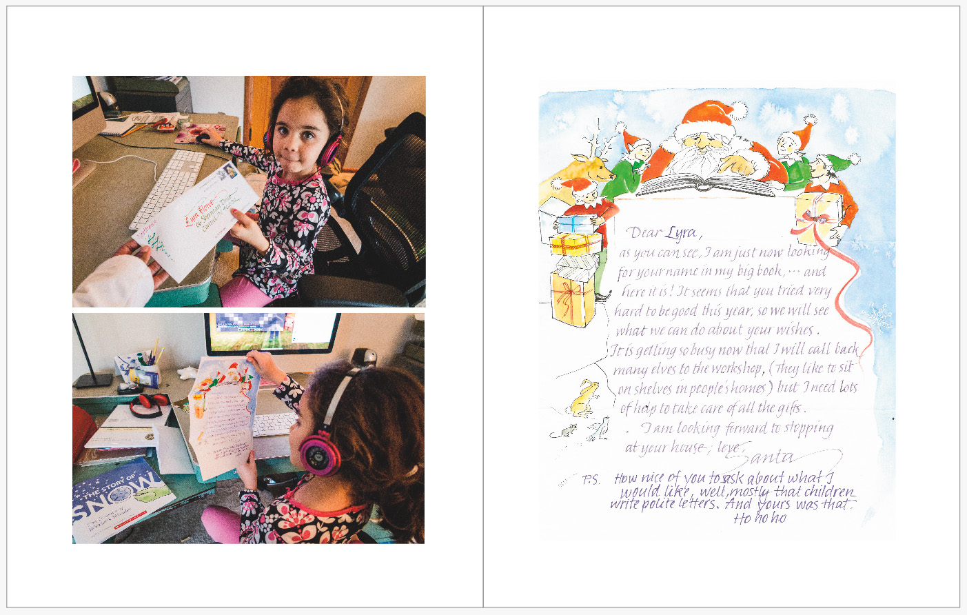 December Daily 2014 photo book | return letter from Santa | yolandamadethis.com