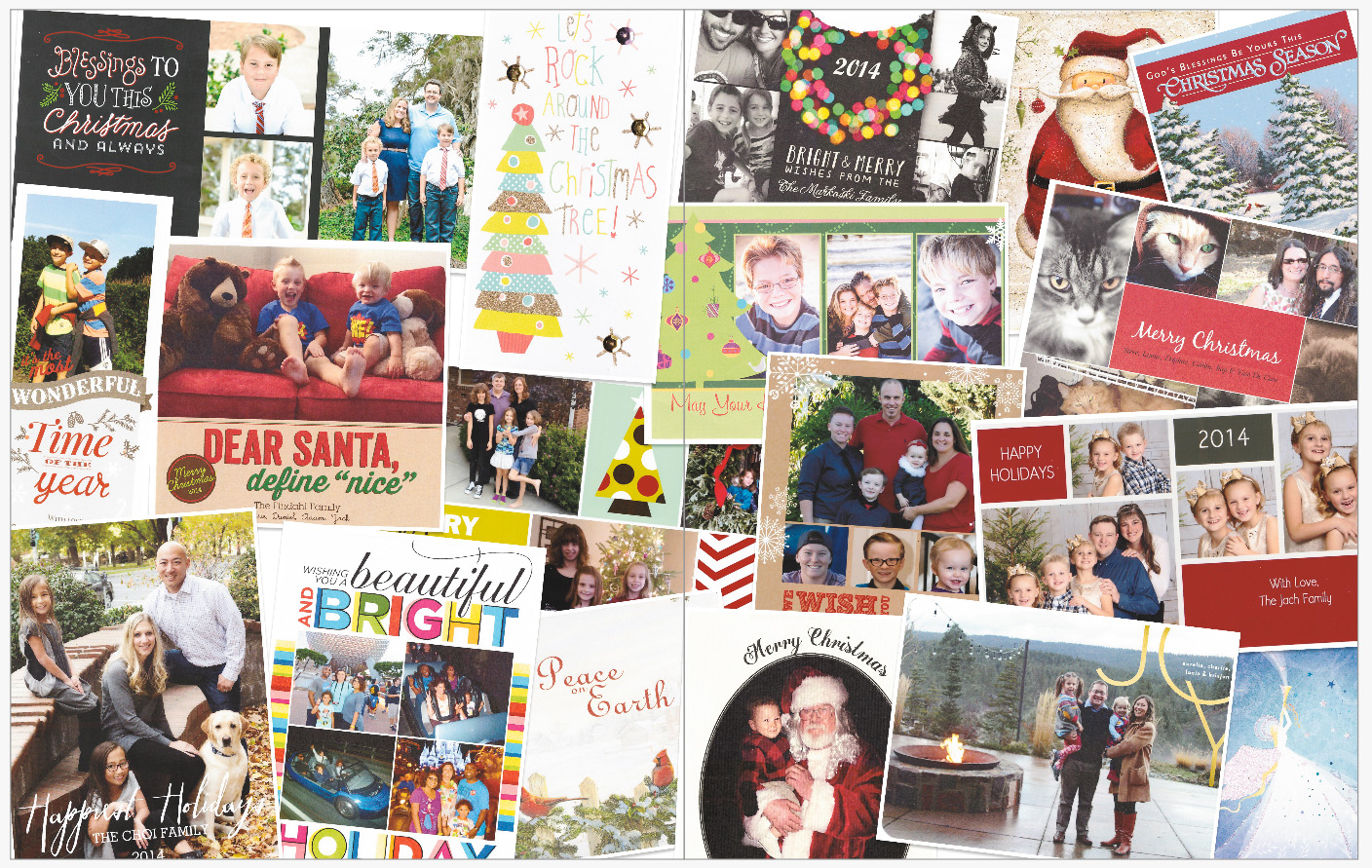 December Daily 2014 photo book | Christmas card collage | yolandamadethis.com