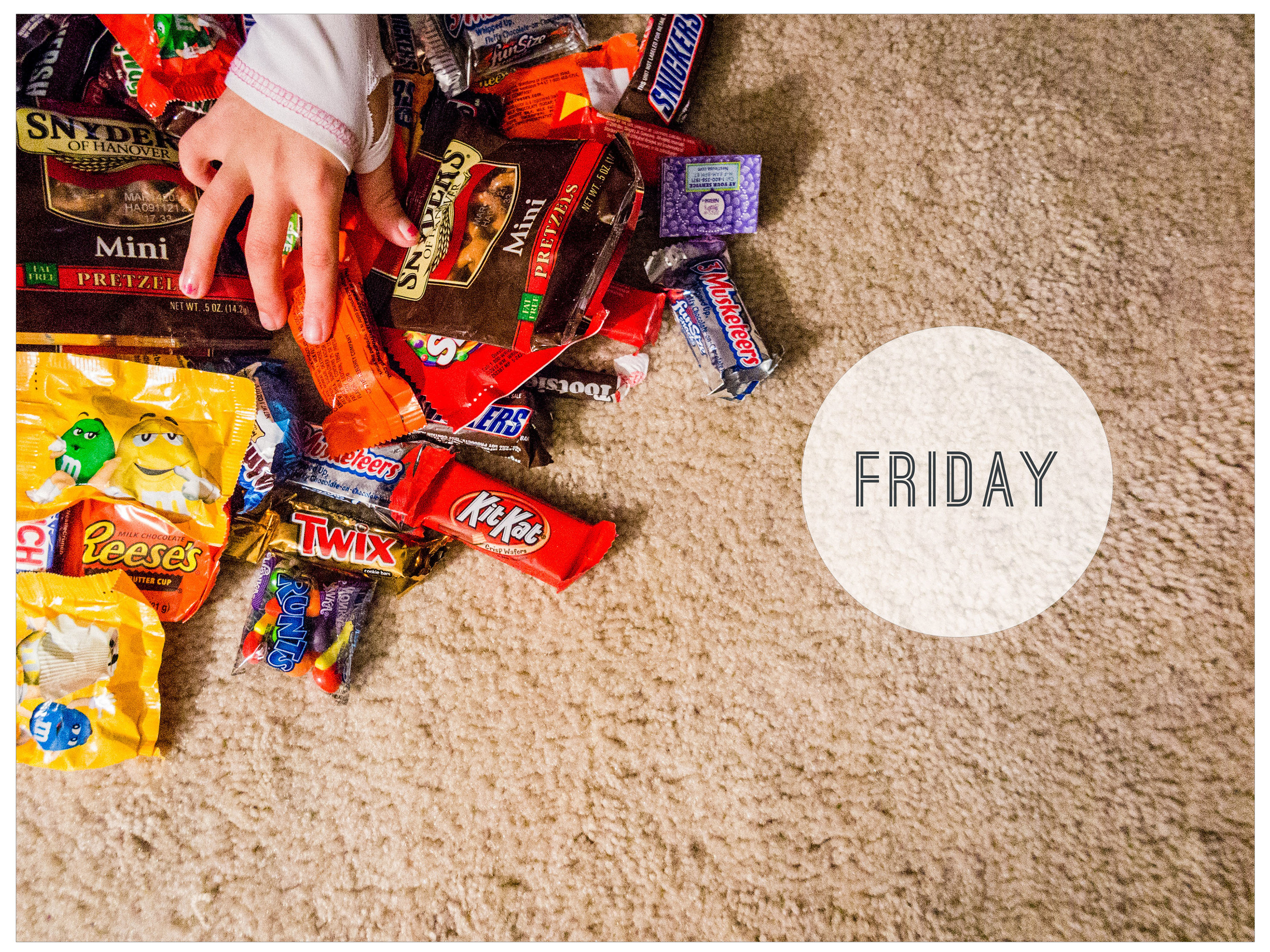 Week in the Life 2014-Friday: Intro | Halloween candy | yolandamadethis.com