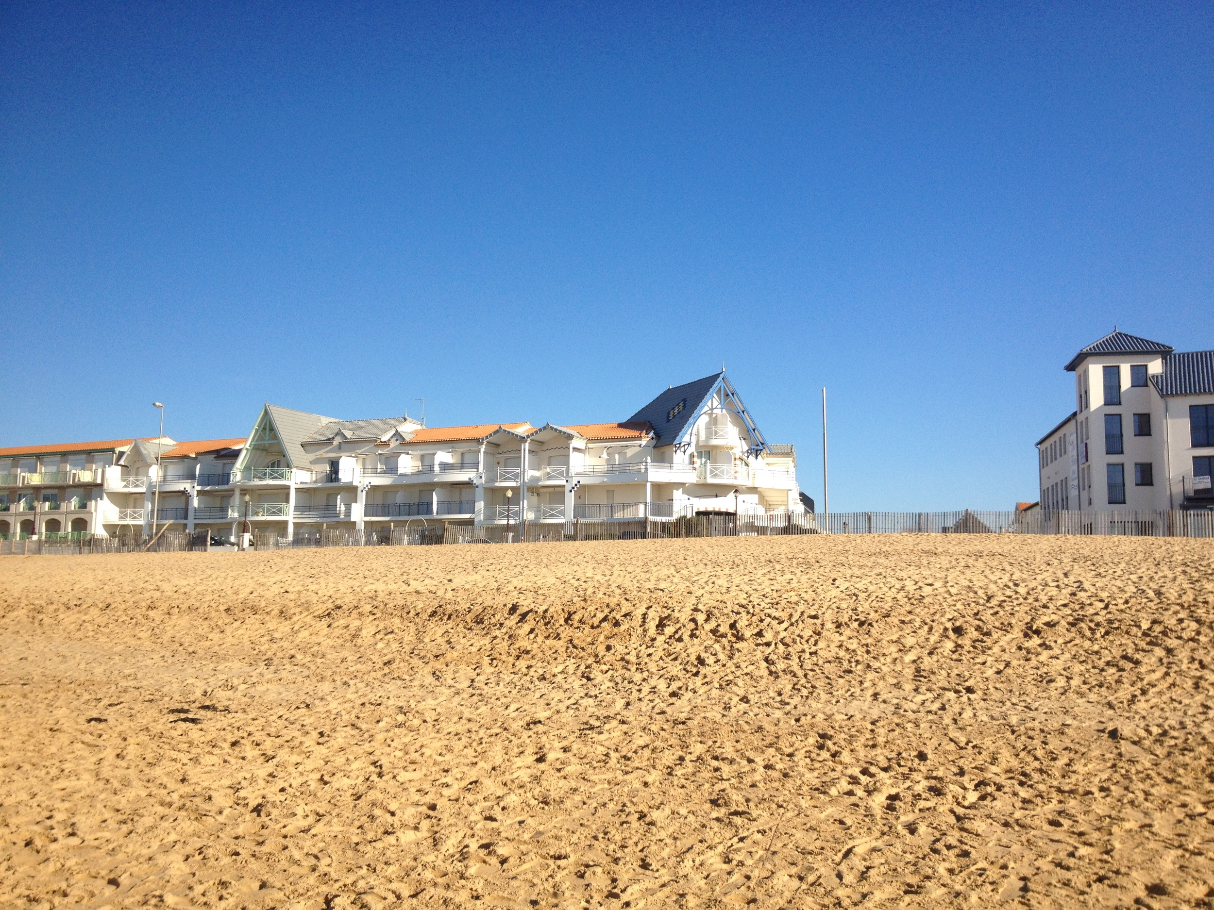 Unbroken blue skies and golden sands - a perfect summer's day? No - January 1st 2015!