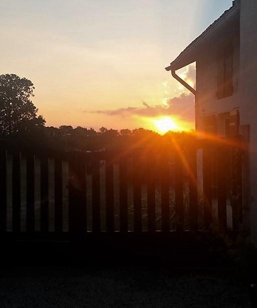 sunset on Le Vincent