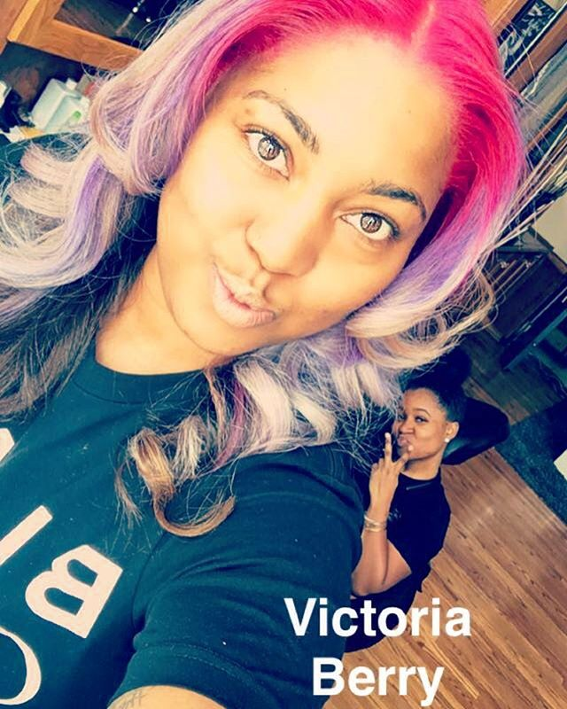 Today I witness what could break most people down. But you manage to persevere through it. To my colorist, my hairstylist, my sister, my friend. I love you. Proud to be apart of your journey. @victoriakberry  #victoriaberry #victoriaberryhair