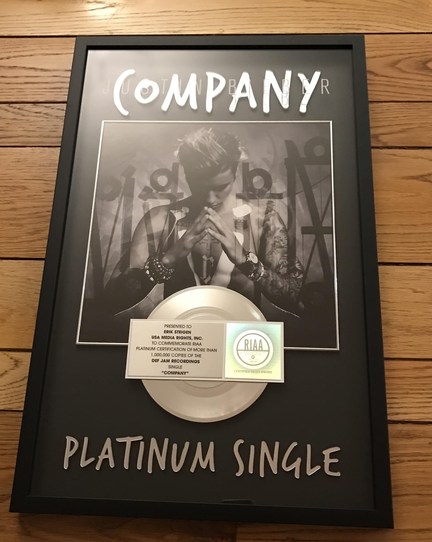 Justin Bieber Company plaque.jpg