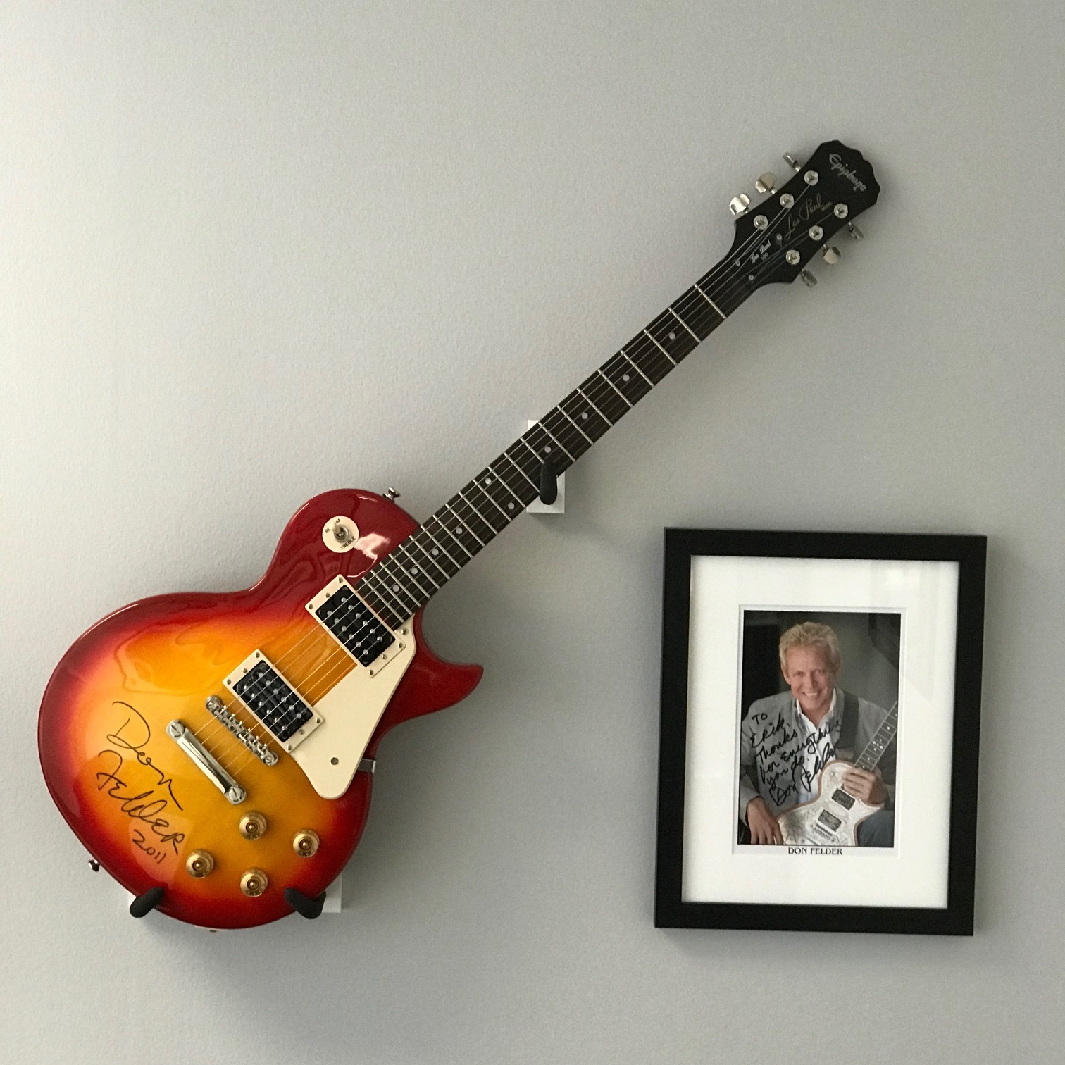 Don Felder Hotel California wall with guitar and signed pic.jpg